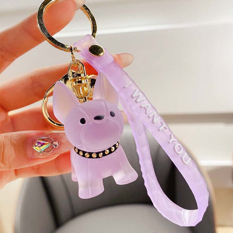 French Bulldog Keychain Key Ring - Frenchiely