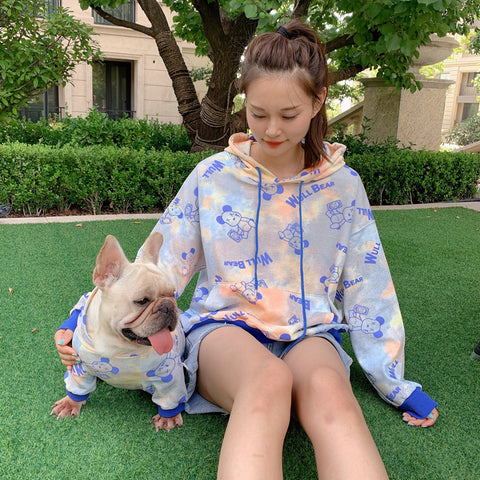 matching dog and owner outfits pastel hoodies - Frenchiely