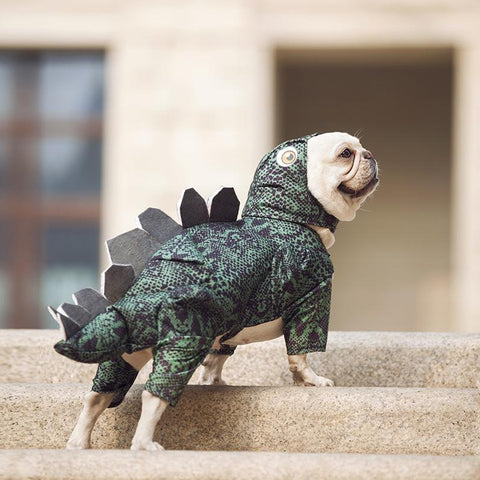 Dog Halloween Dinosaur Dog Costume for French Bulldogs - Frenchiely