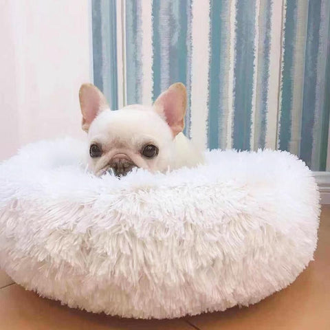 Dog Long-Pile Donut Beds for Medium Dogs French Bulldog - Frenchiely