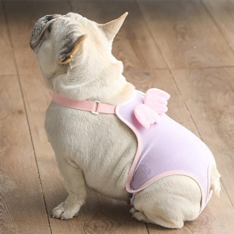 Frenchiely Female Dog Heat Period Sanitary Pants with Wings 01