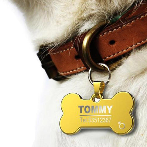Stainless Steel Dog ID Tag Custom Logo - Frenchiely