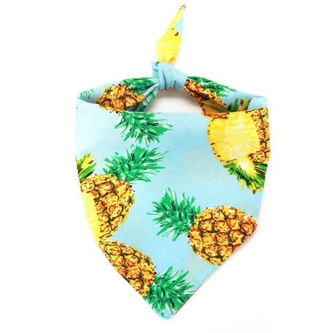 Pineapple Dog Bandana Scarf for French Bulldogs - Frenchiely