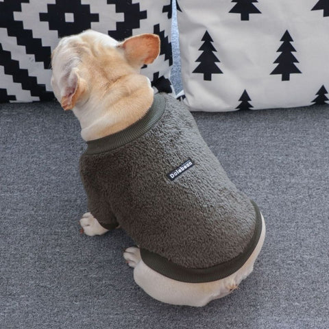 Turtleneck Fur Sweater for French Bulldog by Frenchiely 05