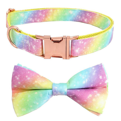 Dog Rainbow Collar Bow tie for Small Dogs - Frenchiely