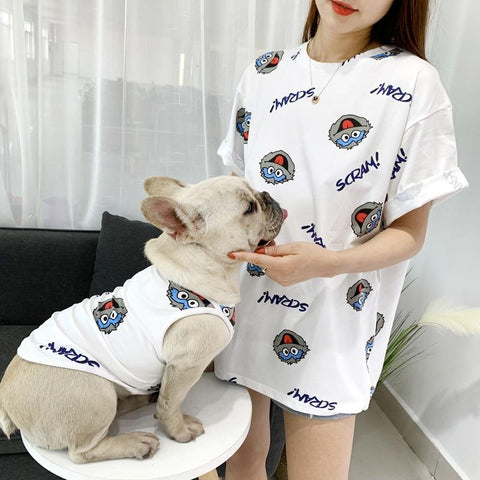 Summer Matching Clothes with My Dog - Frenchiely