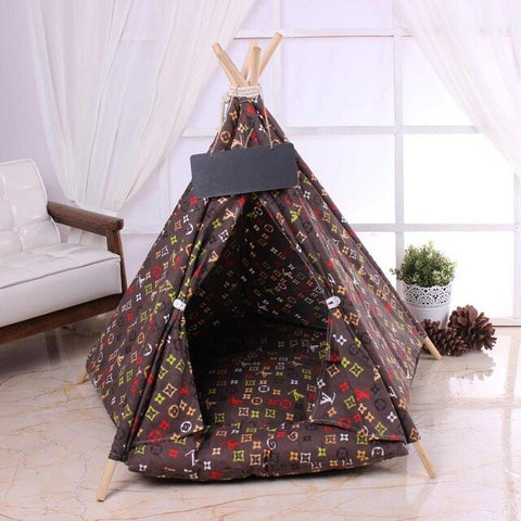 Medium Dog Camo Tent House - Frenchiely