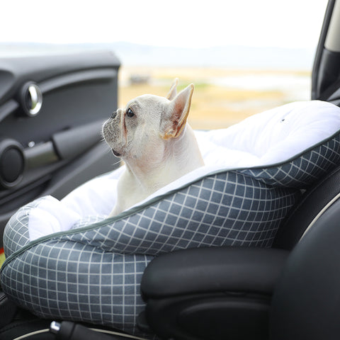 Dog Car Safety Seatbelt Bed Carrier - Frenchiely
