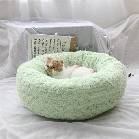 Dog Donut Nest Rose Shape Round bed - Frenchiely