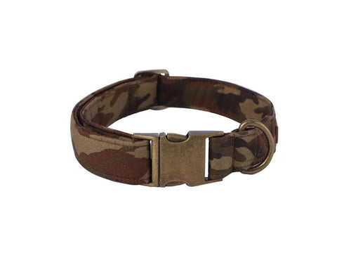 Camouflage Dog Collar Adjustable Bow Tie