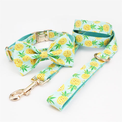 Dog Pineapple Collar Bow Tie for medium dogs