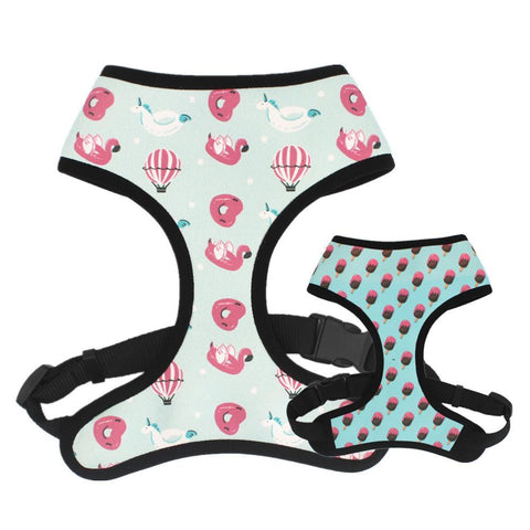 flamingo dog harness for medium dogs - Frenchiely