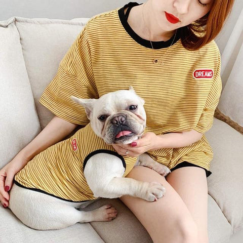 Stripe French Bulldog Clothing for Humans - Frenchiely