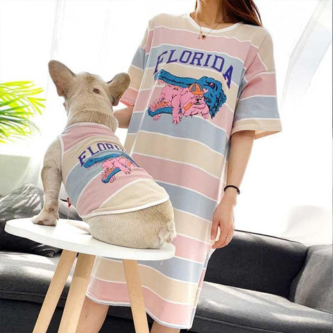 Striped Matching Dog and Owner Dress - Frenchiely