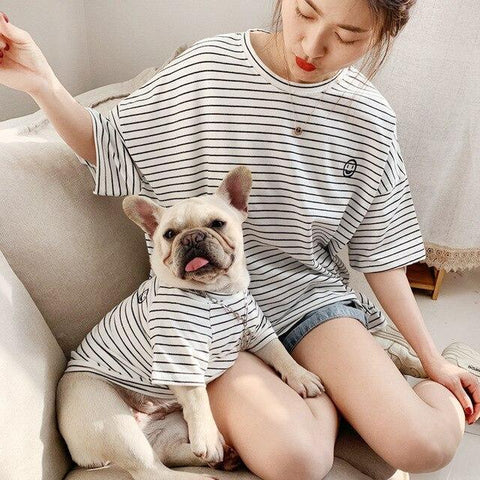 Stripe Dog Owner Matching Apparel - Frenchiely
