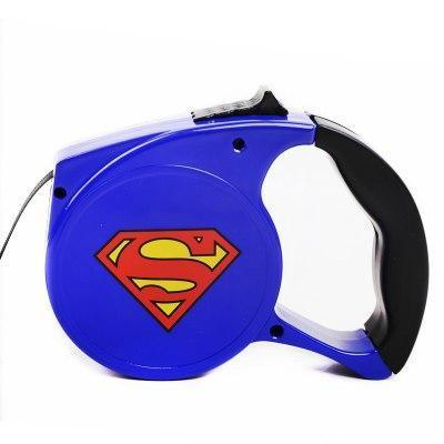 Superman Dog Leash Automatic Retractable for Bulldog - Frenchiely