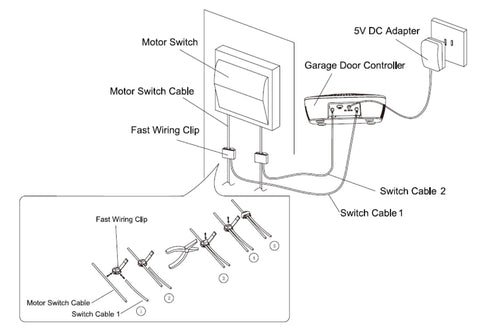 aeotec by aeon labs z wave plus garage door controller gen5 zw062 aeotec by aeon labs zw062 a z wave garage door controller installation diagram