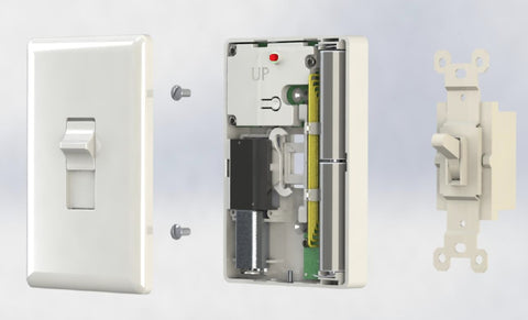 Ecolink Z-Wave Plus Single Gang Toggle Wireless Light Switch TLS-ZWAVE5 installation