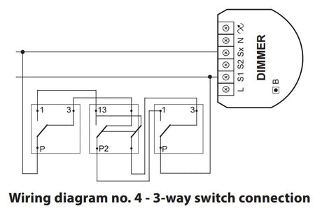 Fibaro Z-Wave Plus Dimmer 2 FGD-212 Wiring Diagram 3-Way