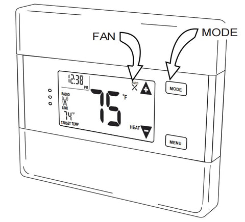 Radio Thermostat Z-Wave Communicating Touch Screen