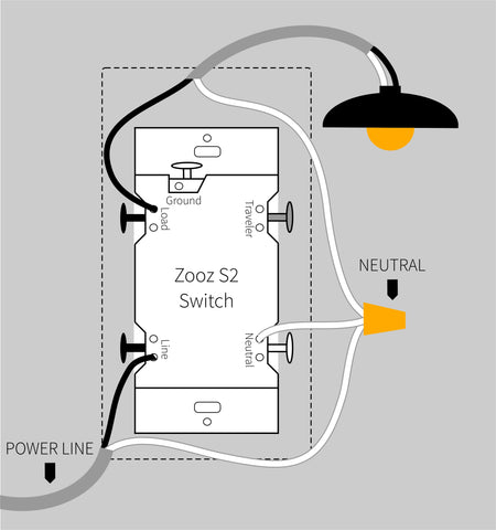 Zooz ZEN24 VER. 4.0 Dimmer Single Pole Wiring Diagram