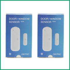 Aeotec by Aeon Labs Z-Wave Plus Door Window Sensor Gen5 ZW120 2 Pack