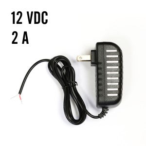 12 VDC Power Supply, 2 A, Black Thumbnail