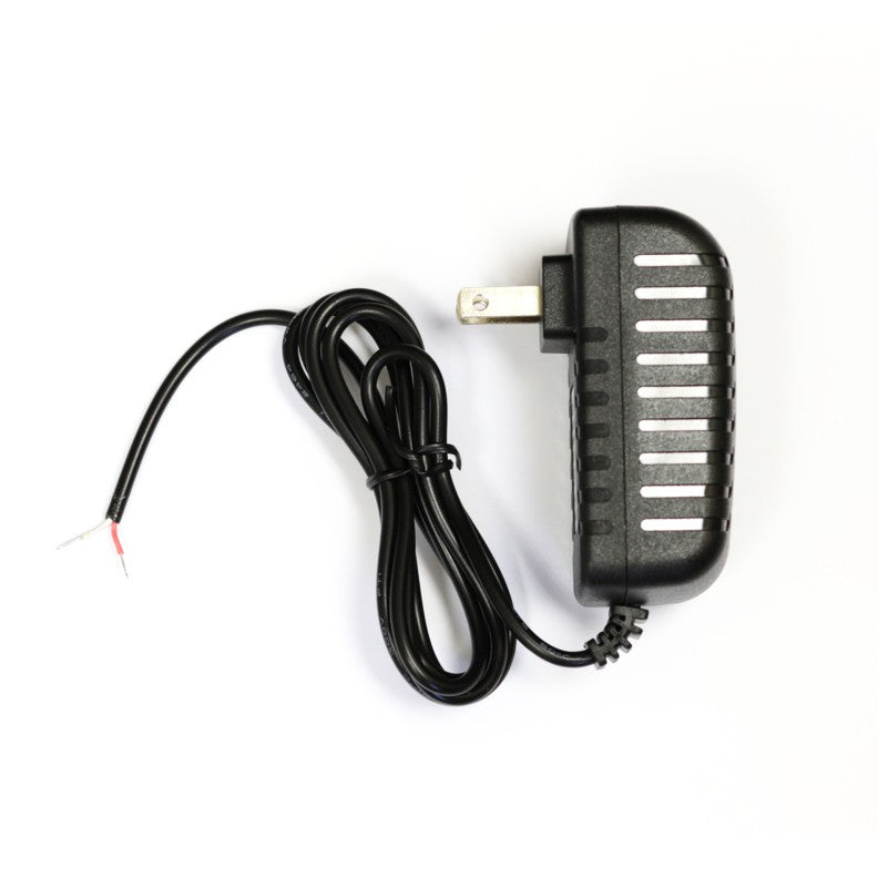 12 VDC Power Supply, 2 A, Black Side View