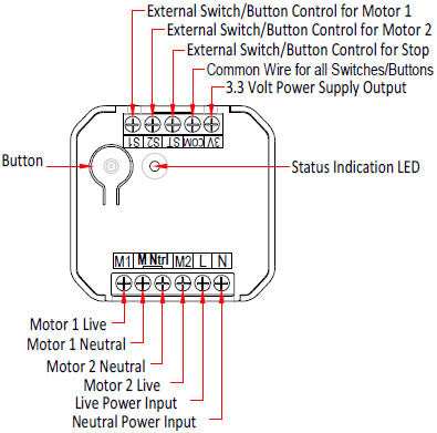 Aeotec by Aeon Labs Z-Wave Micro Motor Controller DSC17103 diagram