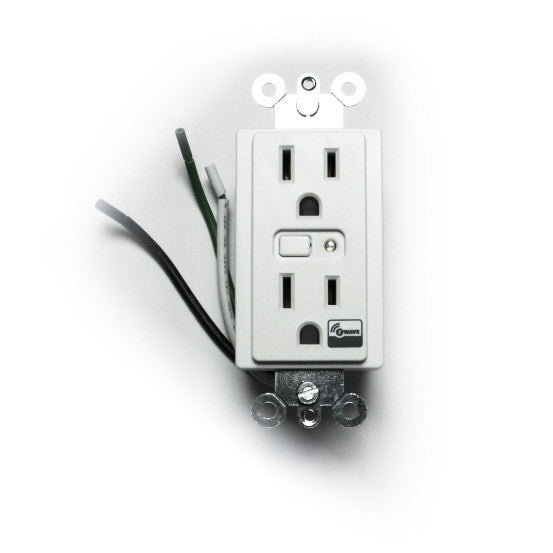 GE 12721 - In-wall Wireless Smart Outlet Model ZW1001 front