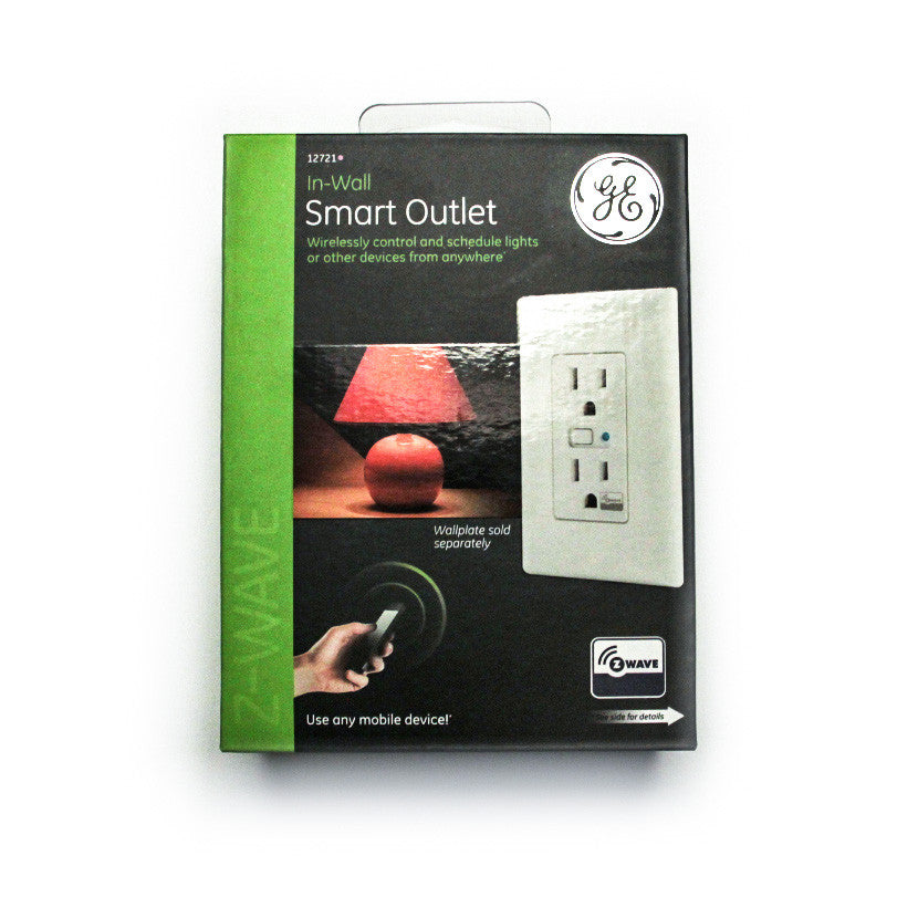 GE 12721 - In-wall Wireless Smart Outlet Model ZW1001 box front