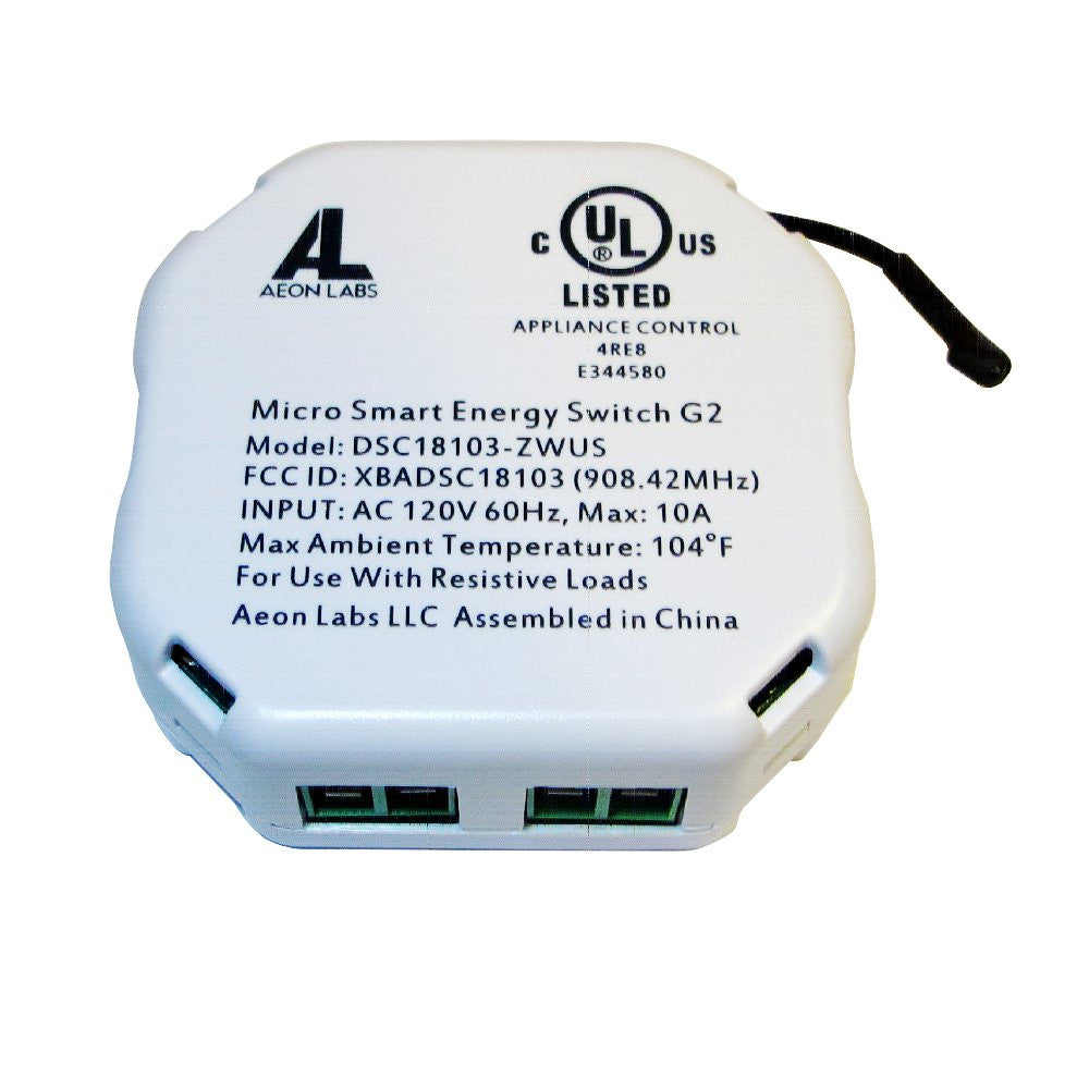 Aeotec DSC18103-ZWUS Aeon Labs Micro Smart Energy Switch G2 (Second Edition ) Z-Wave