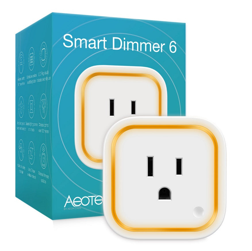 (2) AEOTEC Z-Wave Plus Smart Dimmer 6 GEN5 ZW099 packaging