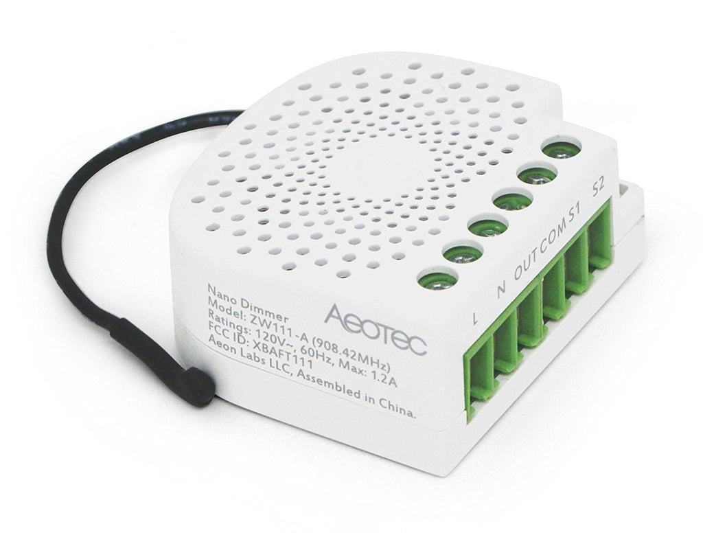 Aeotec by Aeon Labs Z-Wave Plus Nano Dimmer ZW111 Side Terminal View