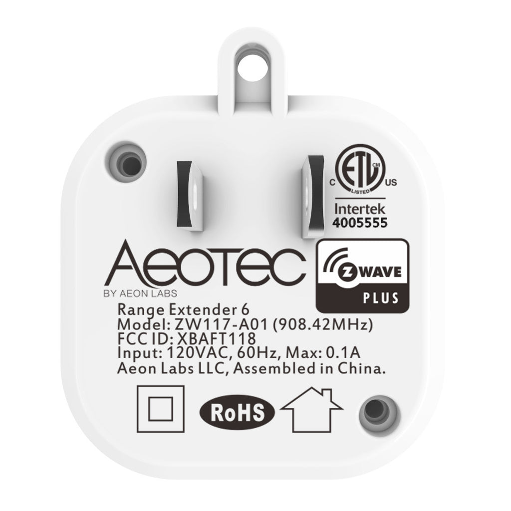 Aeotec by Aeon Labs Z-Wave Plus Range Extender & Signal Repeater ZW117 Product Information