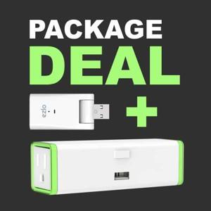 Ezlo Atom and Zooz S2 Double Plug ZEN25 Smart Home Package Deal