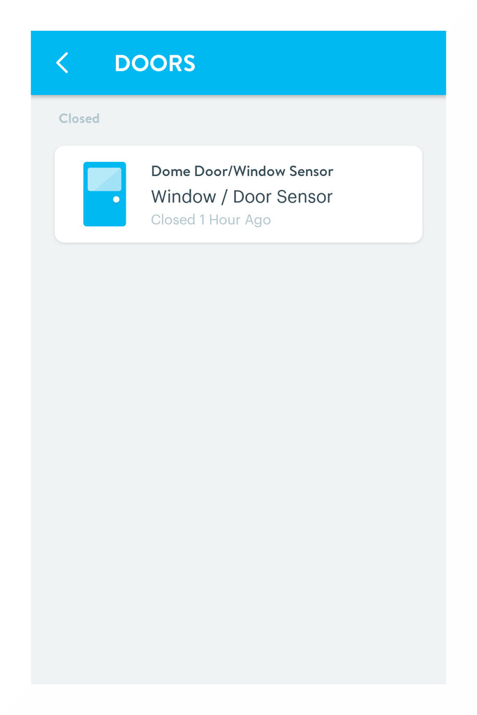 Dome Z-Wave Plus Door/Window Sensor Pro DMDP1 in Wink interface