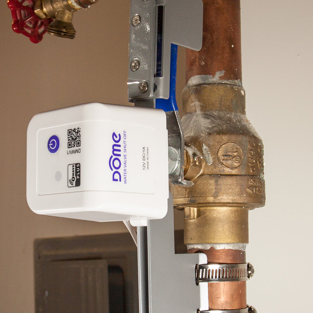 Dome Z-Wave Plus Water Main Shut-off Valve Controller DMWV1 Installation view
