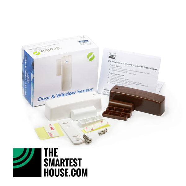 Ecolink Z Wave Plus Door Window Sensor White And Brown