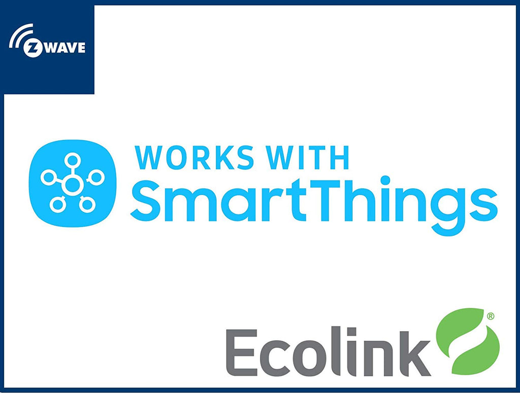 Ecolink Z-Wave Plus Indoor Flood / Freeze Sensor FLF-ZWAVE5-ECO works with SmartThings