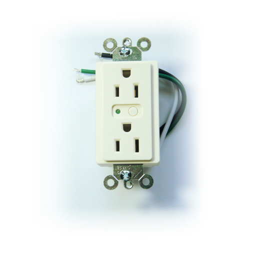 Evolve Z-Wave White Duplex Receptacle LOM-15 (Almond)