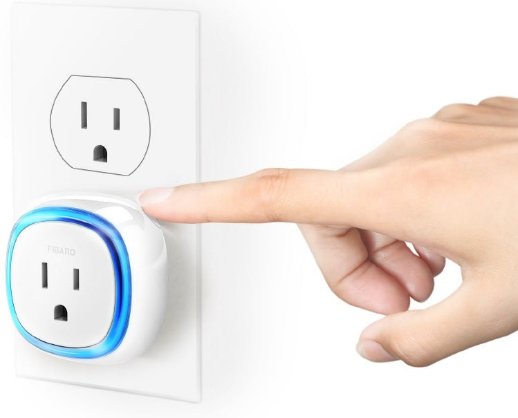 Fibaro Z-Wave Plus Wall Plug with USB Charging Port FGWPB-121 Inclusion Button