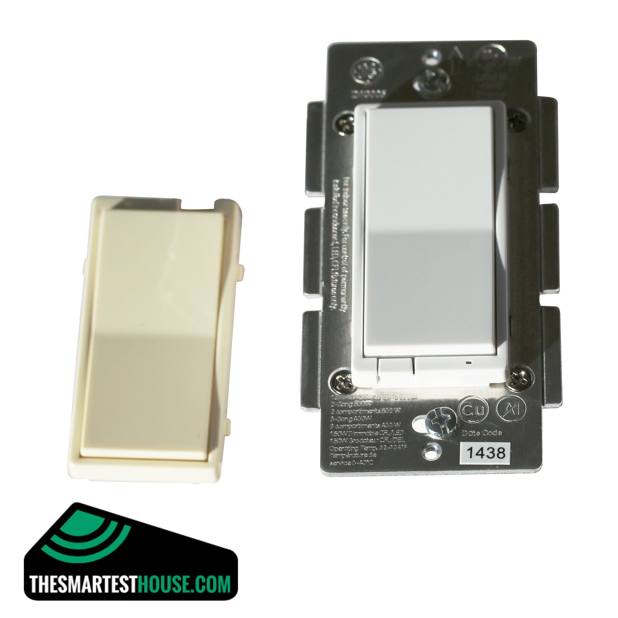 GE 12724 Z Wave In Wall Smart Dimmer (White and Almond Paddle) The  #069969