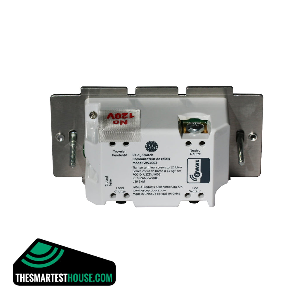 GE 12727 Z-Wave In-Wall Smart Toggle On-Off Switch second back connection