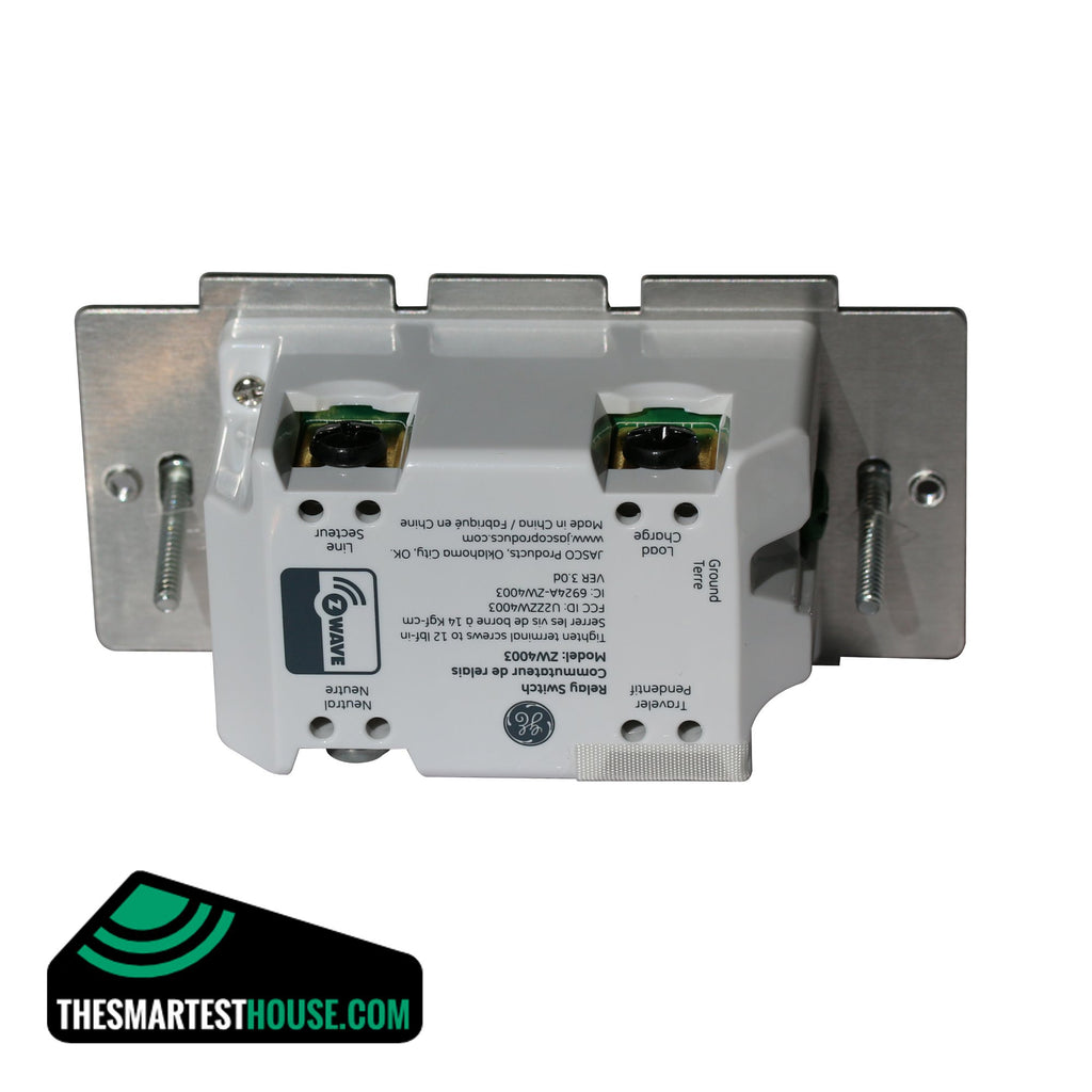 GE 12727 Z-Wave In-Wall Smart Toggle On-Off Switch back connections