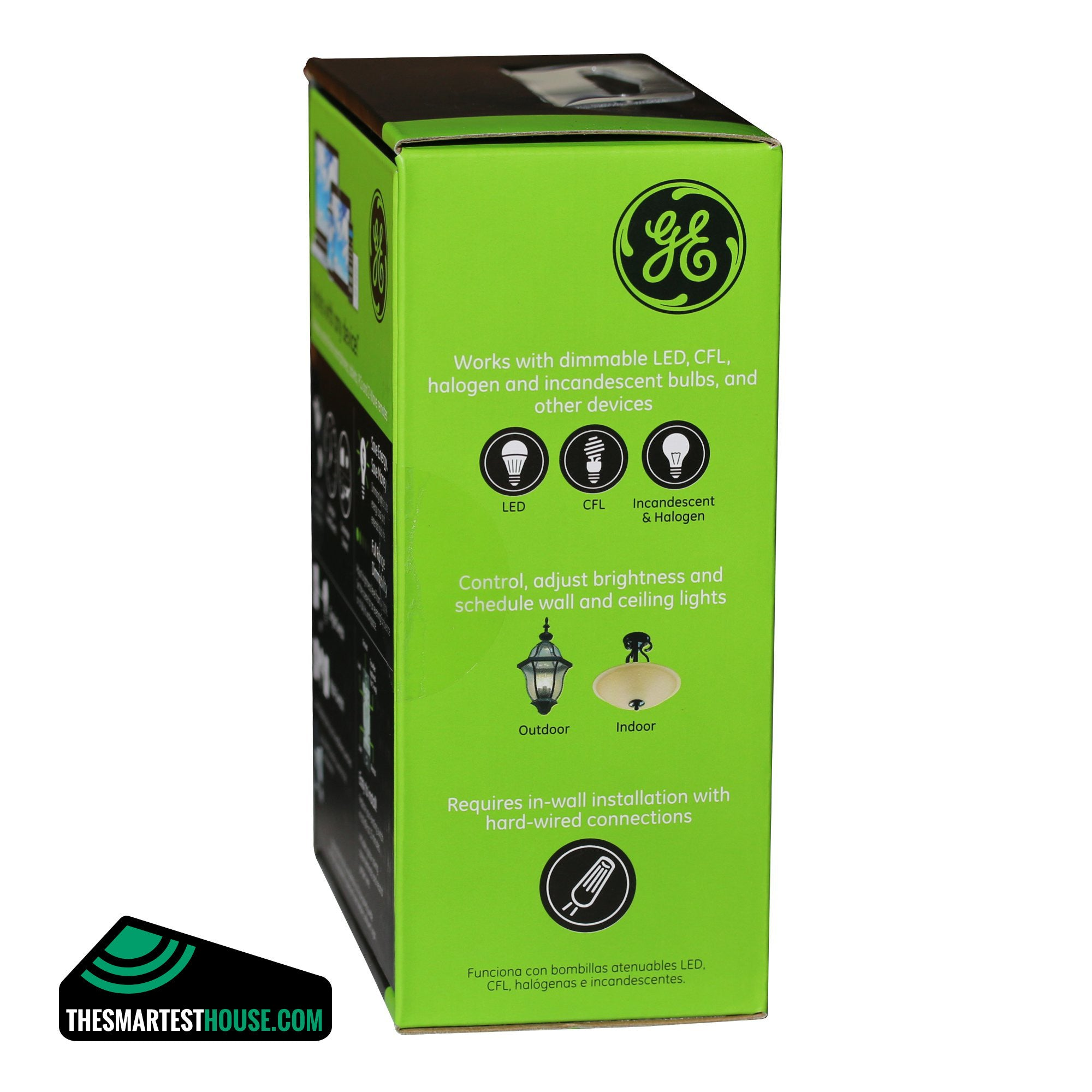 ge z wave in wall smart toggle dimmer switch the smartest ge 12729 z wave in wall smart dimmer green side