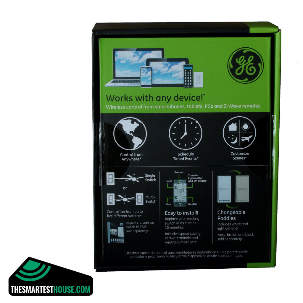 GE 12730 Z-Wave In-Wall Smart Fan Control back box