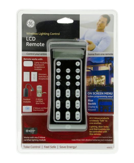 ge 45613 wave wireless lighting control. ge zwave wireless lighting control lcd remote 45633 large ge 45613 wave