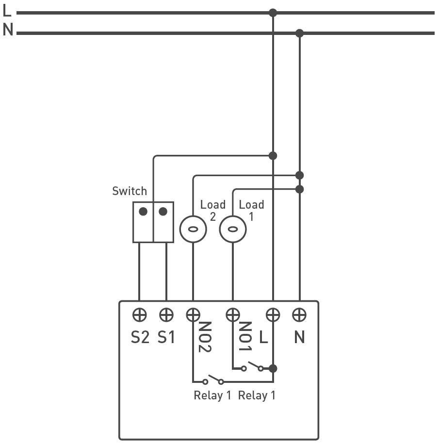 Zipato Z-Wave Micromodule Switch Double Scheme