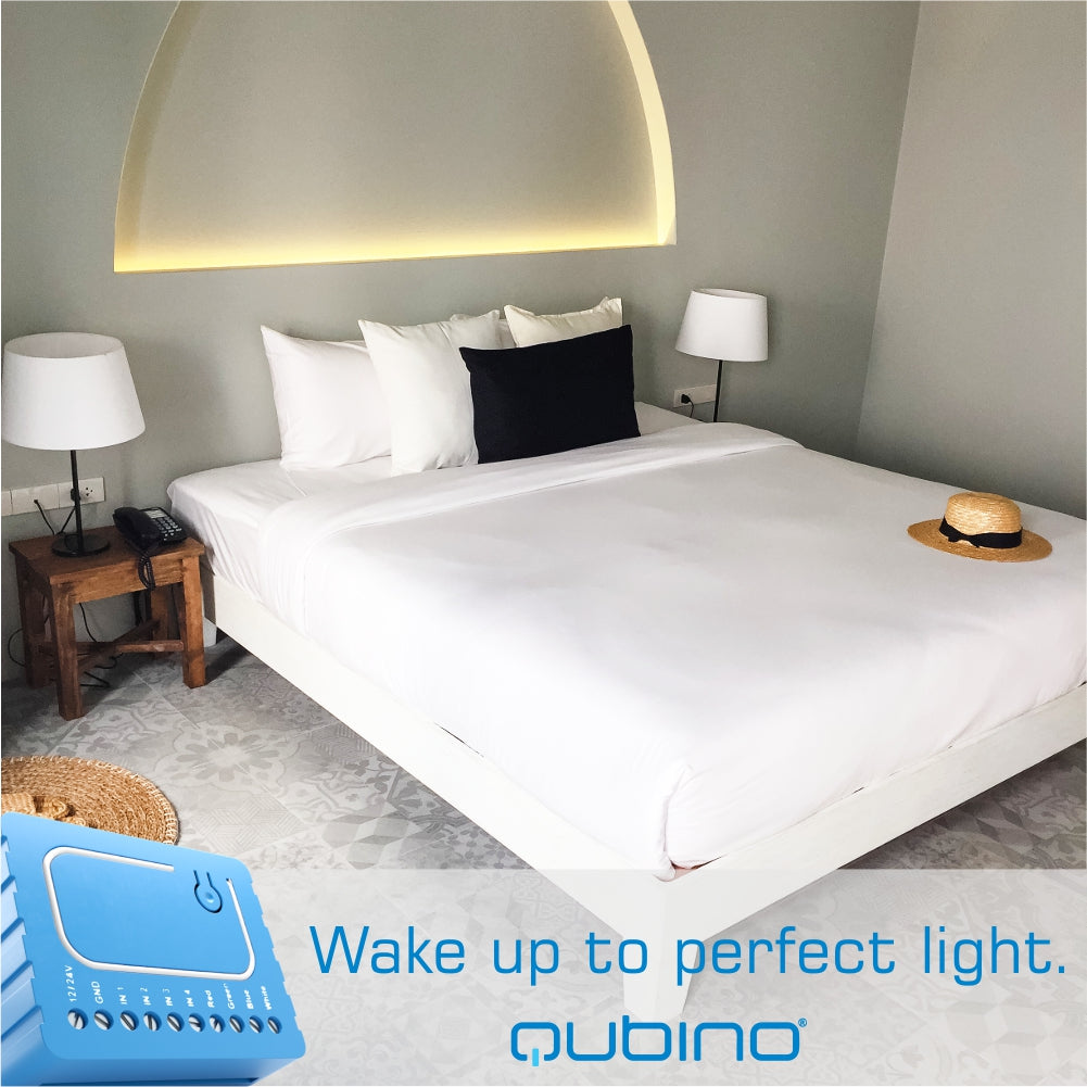 Qubino Z Wave Plus Flush Rgbw Dimmer Module Zmnhwd3 The Smartest House Watercop Rj45 Wiring Diagram Led Strip Control